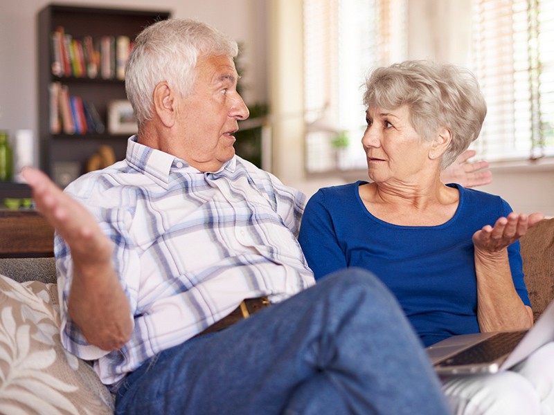 Picture of couple surprised by facts relating to their ears
