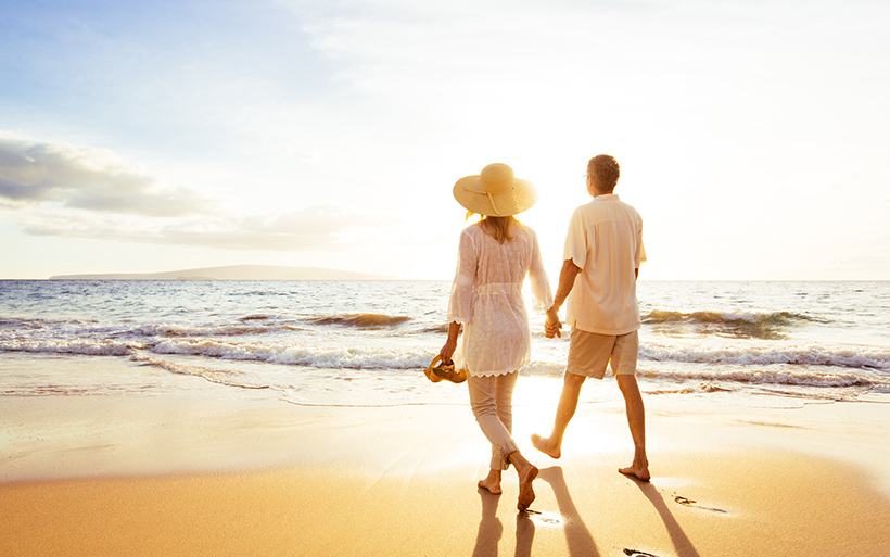 Picture of couple on the beach