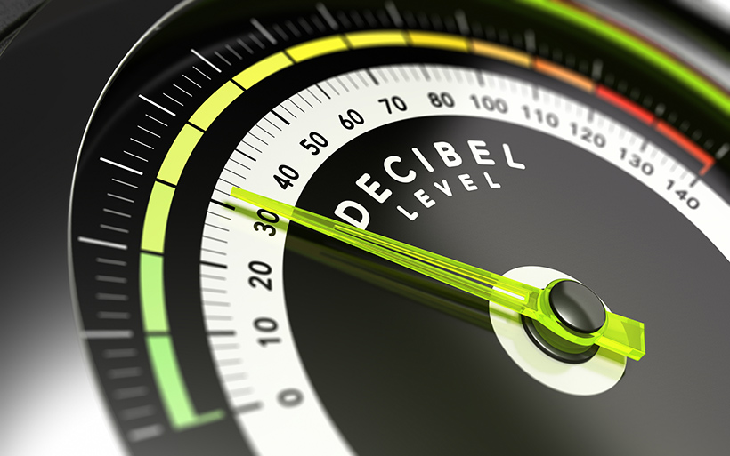 Picture of a decibel meter
