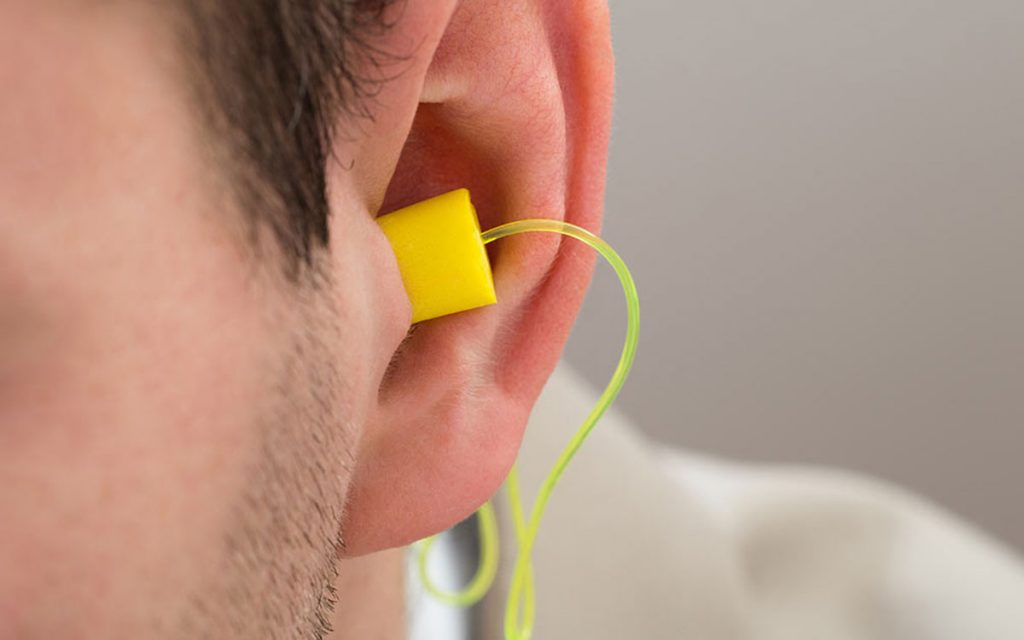 Hearing protection with head plugs