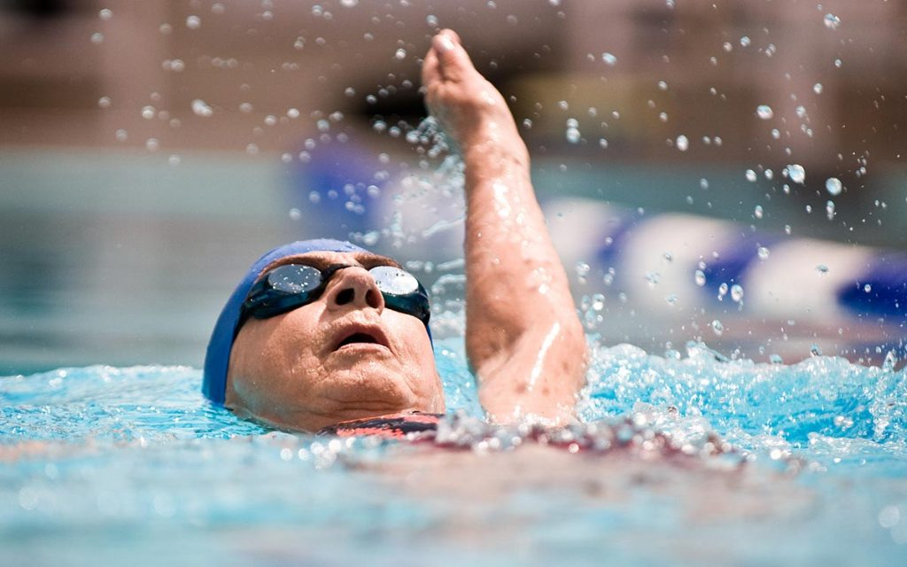 Swimmers in pool suffering from swimmer's ear.