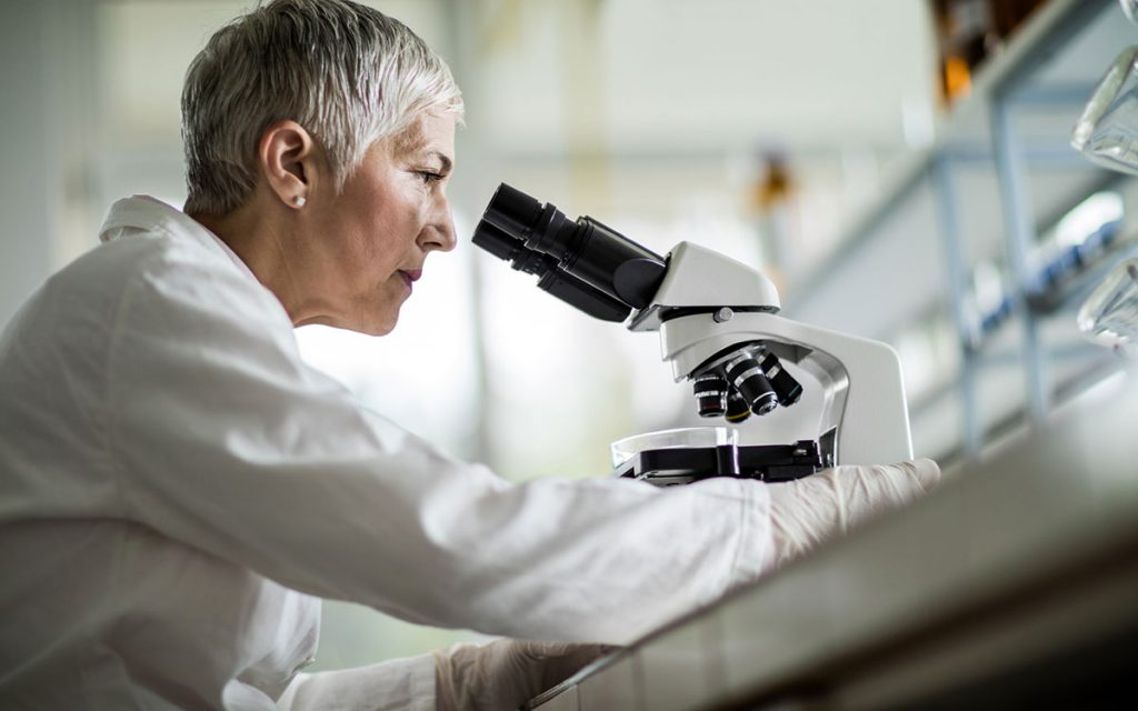Scientist researching hearing loss.