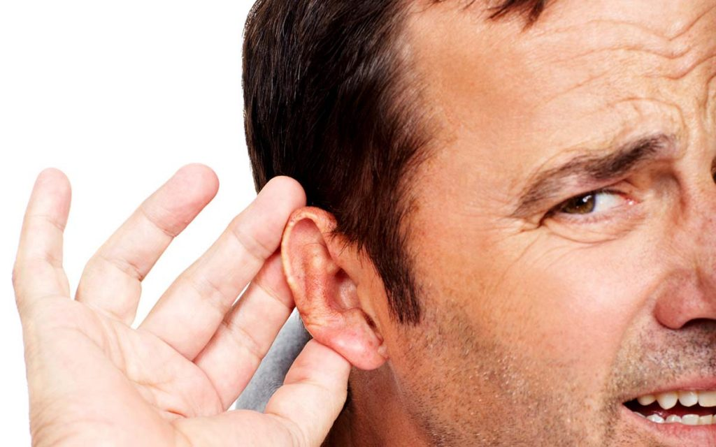 Man can't decipher the direction of sound because of hearing loss.