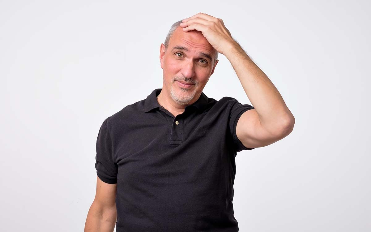 Man wondering if it's selctive heareing or hearing loss.