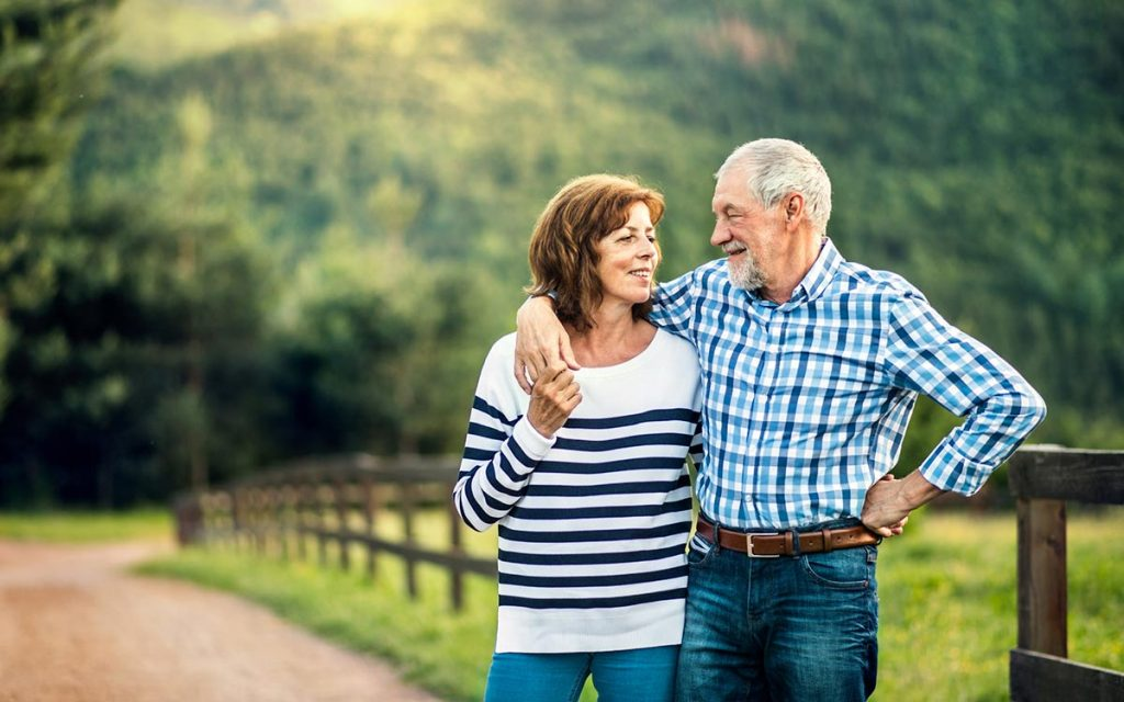 Happy couple with their Tinnitus and hearing loss being treated.