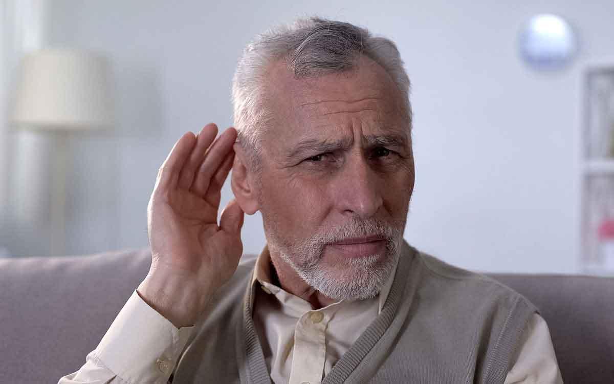 Senior man who isn't sure if he has bad hearing.